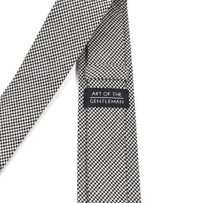 Checkered Black and White Tie