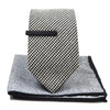 Checkered Black and White Tie Set