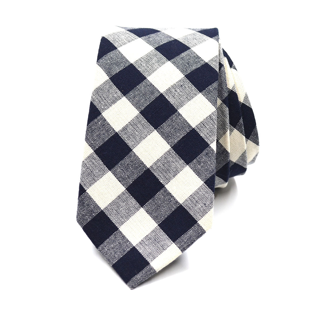Checkered Charcoal Tie