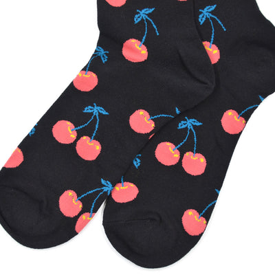Cherry Black Men's Socks