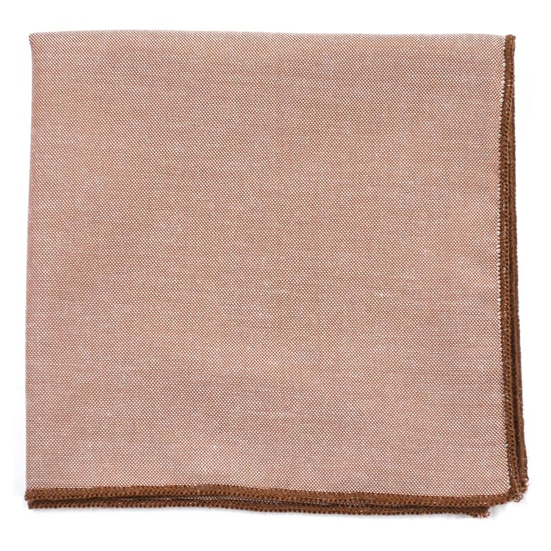 Solid Brown Pocket Square