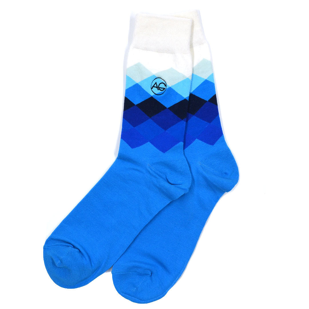 Diamond Blue Men's Socks