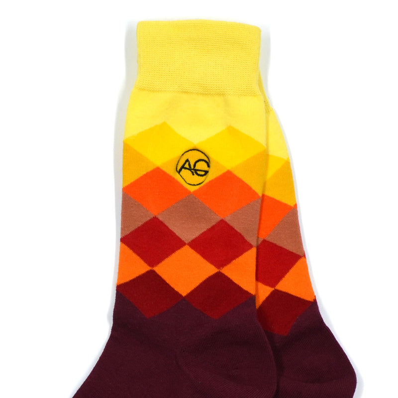 Diamond Burgundy Men's Socks