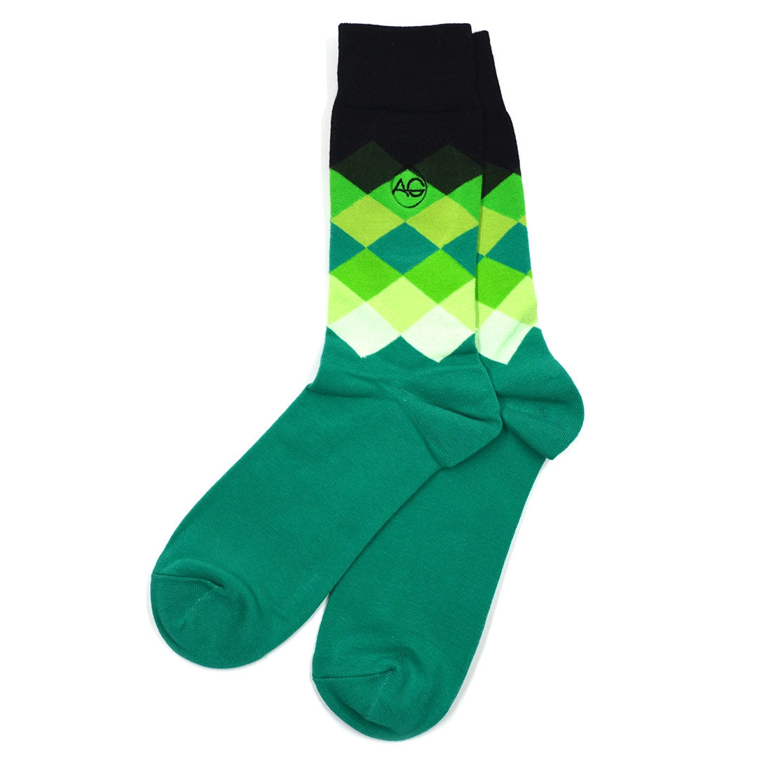 Diamond Green Men's Socks