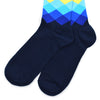 Diamond Navy Red Men's Socks