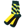 Diamond Striped Yellow Men's Socks