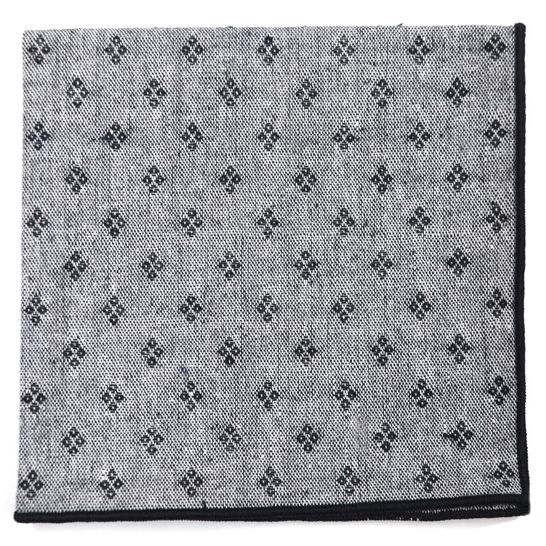 Diamonds Black Pocket Square