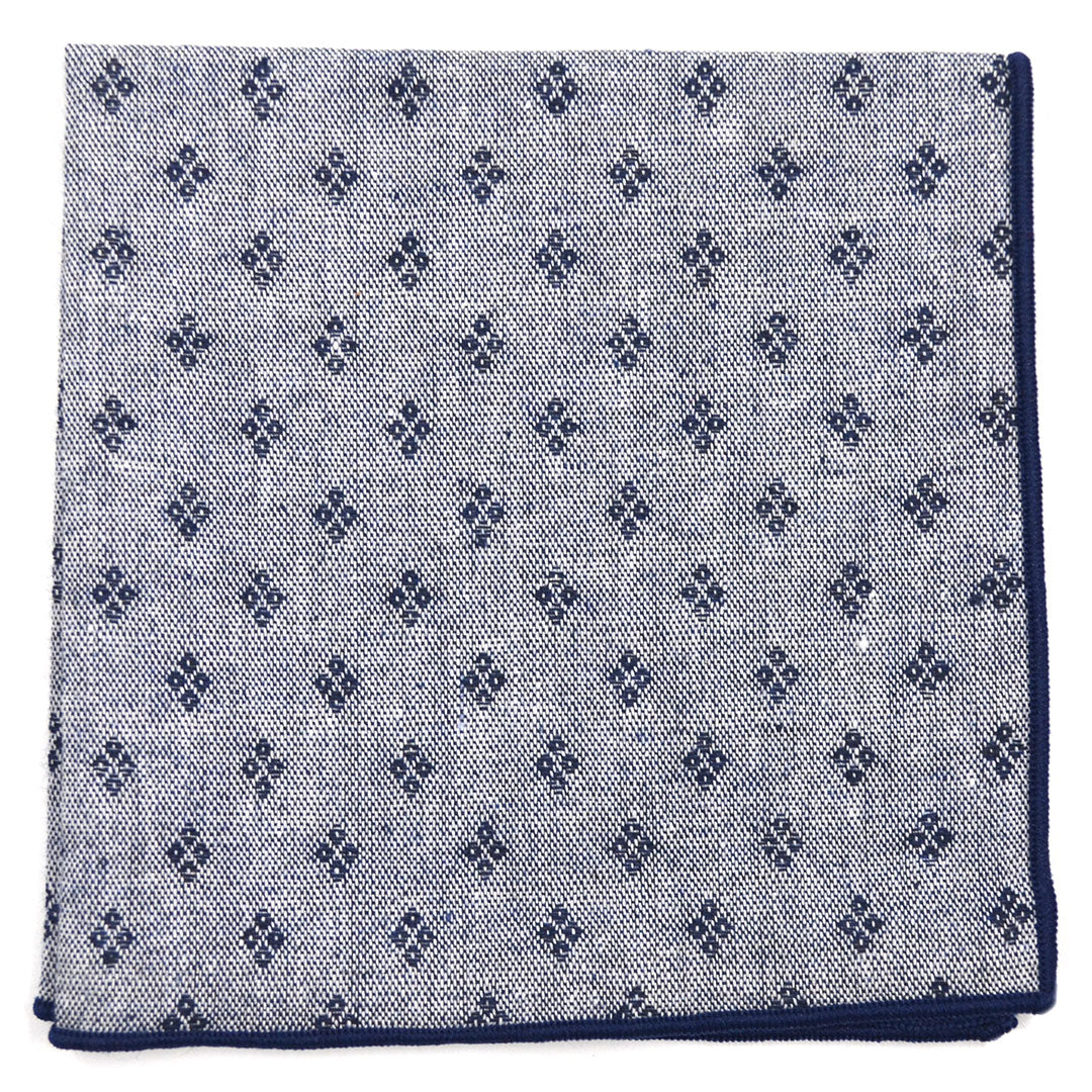 Diamonds Navy Pocket Square