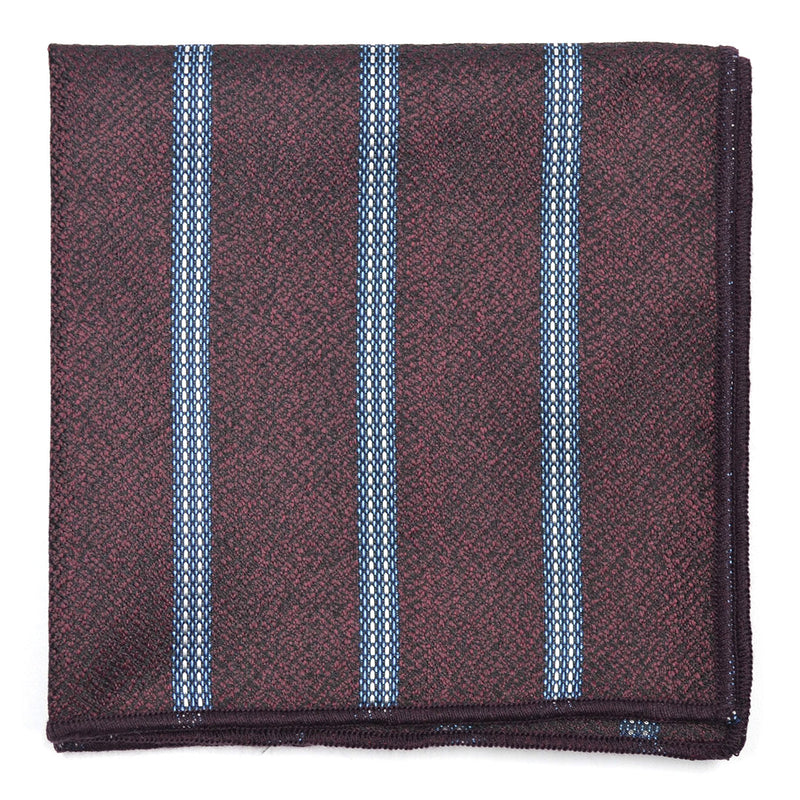 Downtown Striped Burgundy Pocket Square