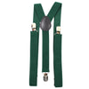 Solid Emerald Green Suspenders