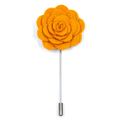 orange yellow lapel pin