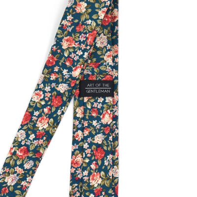 floral green tie