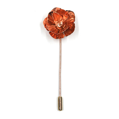 Lapel Pin Floral Rose Gold
