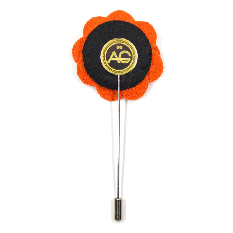 Lapel Pin - Floral Terracotta