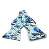 Floral Baby Blue Bow Tie