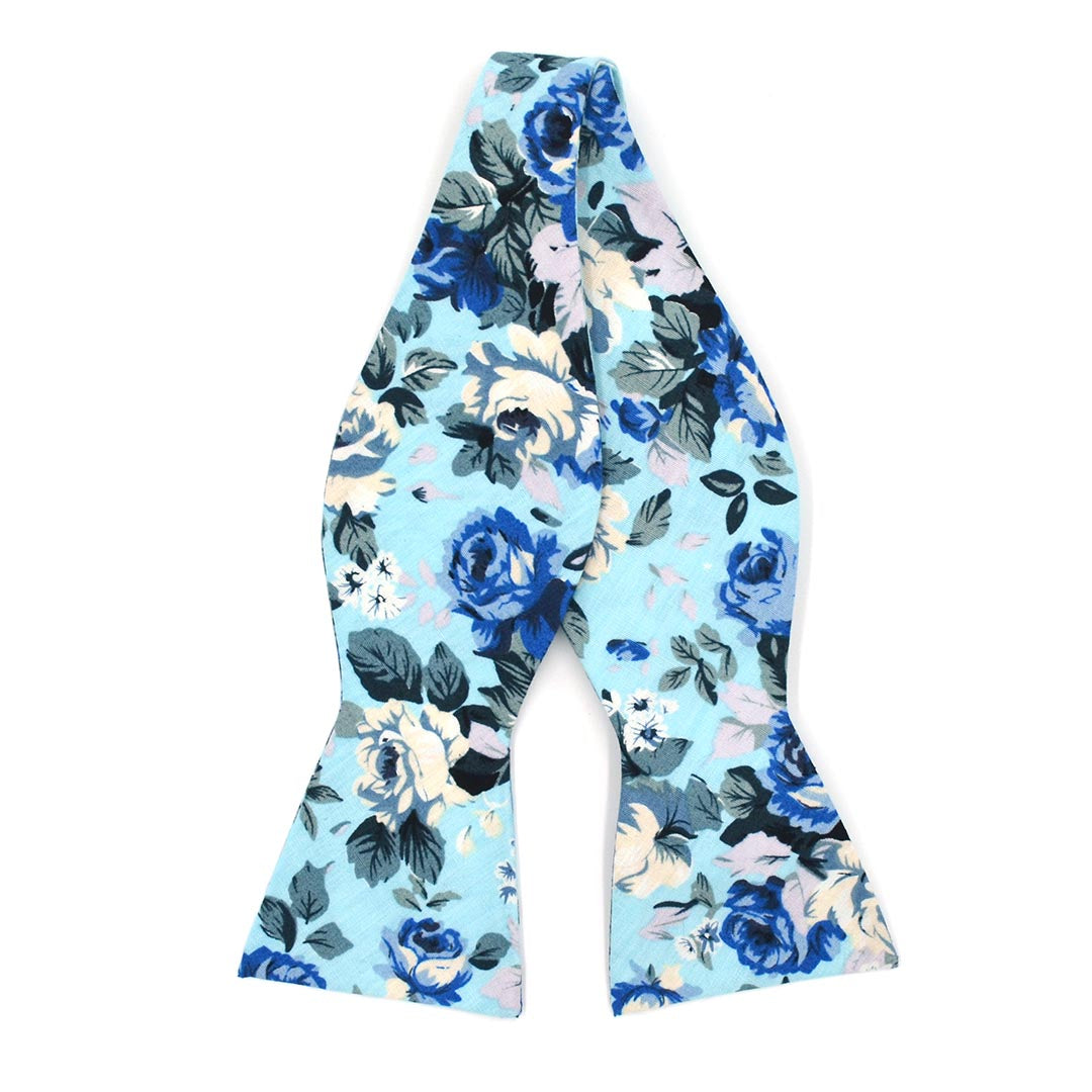 Bow Tie - Floral Baby Blue Bow Tie