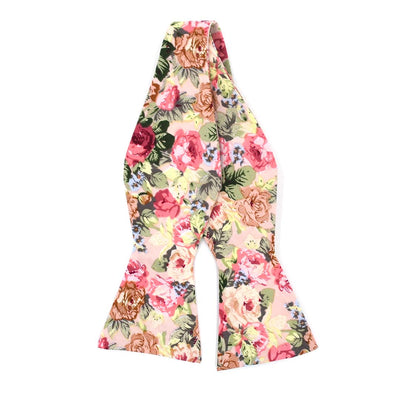 Bow Tie - Floral Beige Carnation Bow Tie