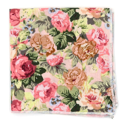 Pocket Square - Floral Beige Carnation Pocket Square
