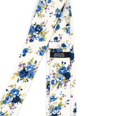 Floral Blueberry Tie