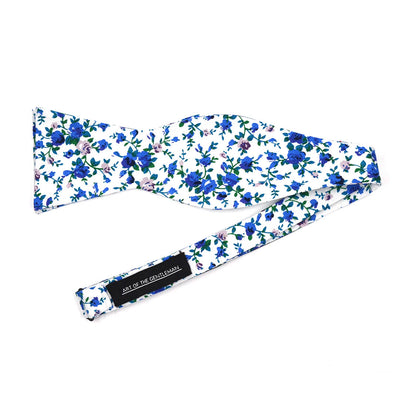 Floral Blue Ivy Bow Tie