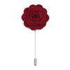 Lapel Pin Floral Burgundy
