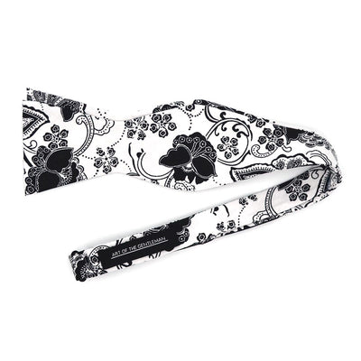 Floral Ceramic Midnight Bow Tie
