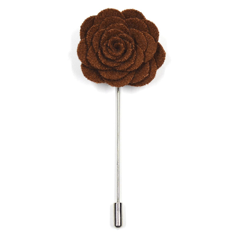 Lapel Pin - Floral Chocolate