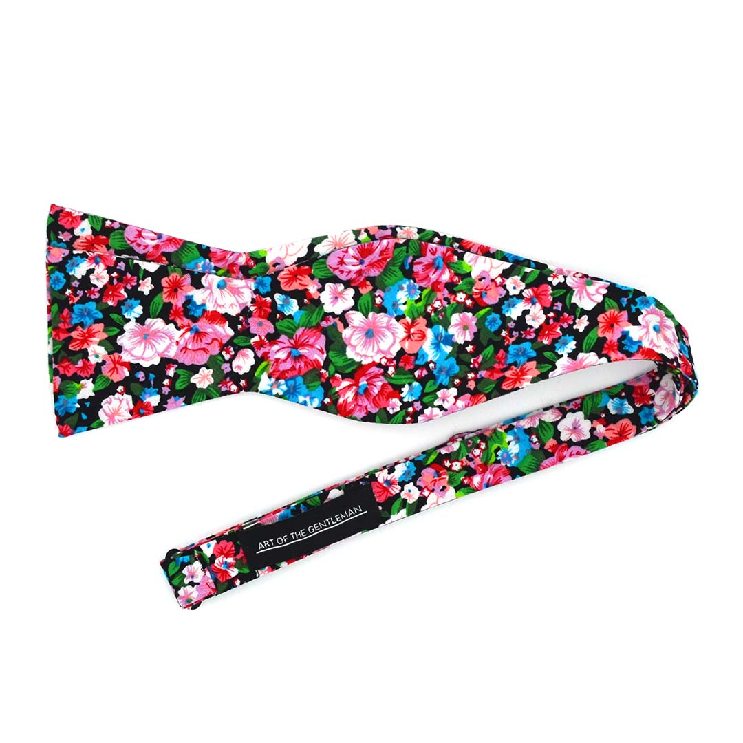 Floral Cotton Candy Bow Tie