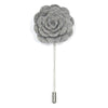 Lapel Pin - Floral Grey
