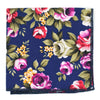 Floral Indigo Rose Pocket Square