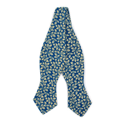 Floral Ivy Sapphire Bow Tie
