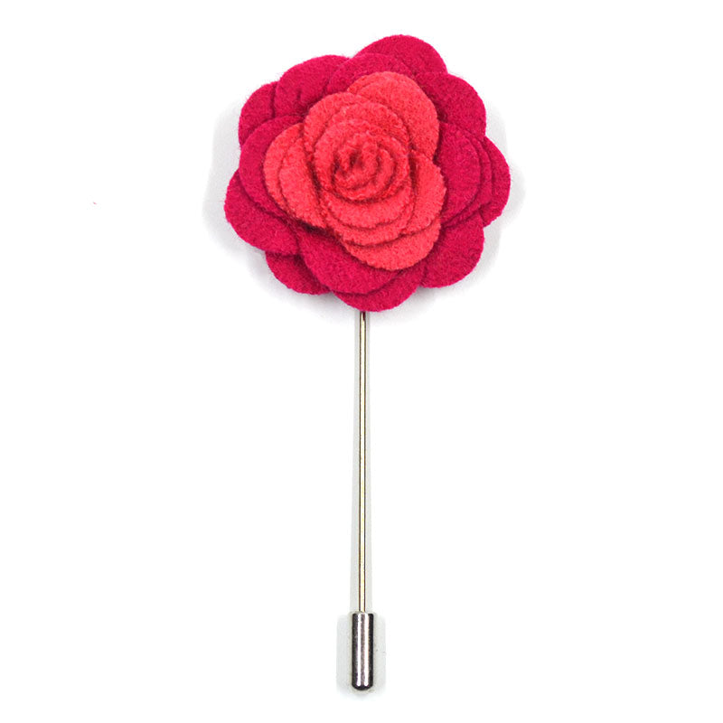 Lapel Pin - Floral Magenta Bubble Gum