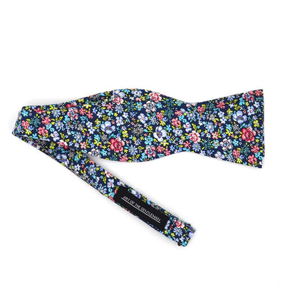 Floral Navy Bow Tie