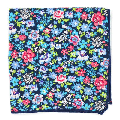 Floral Navy Pocket Square