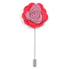 Lapel Pin - Floral Periwinkle Strawberry