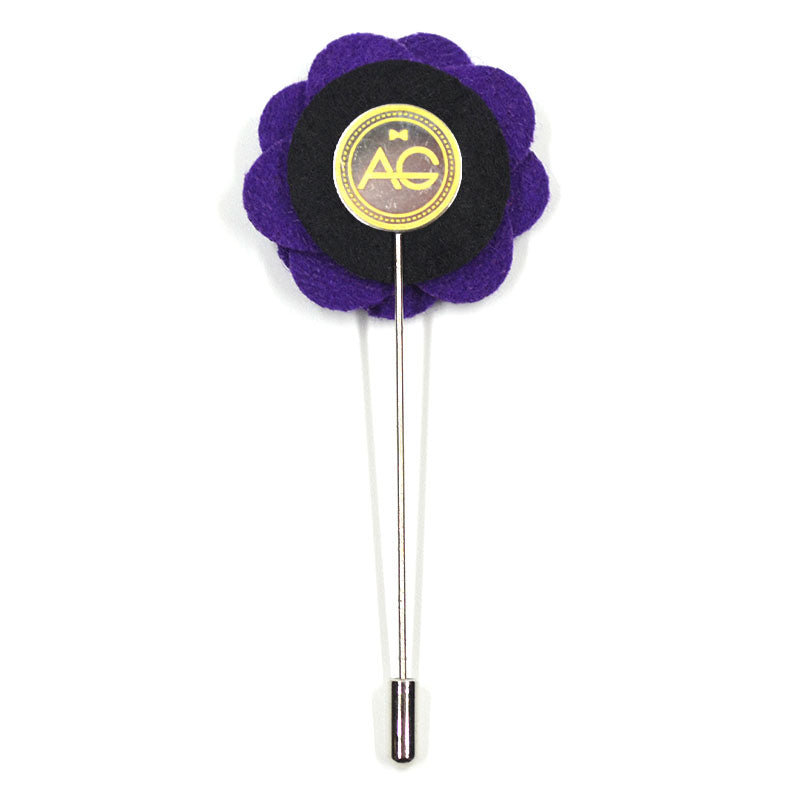 Lapel Pin - Floral Purple