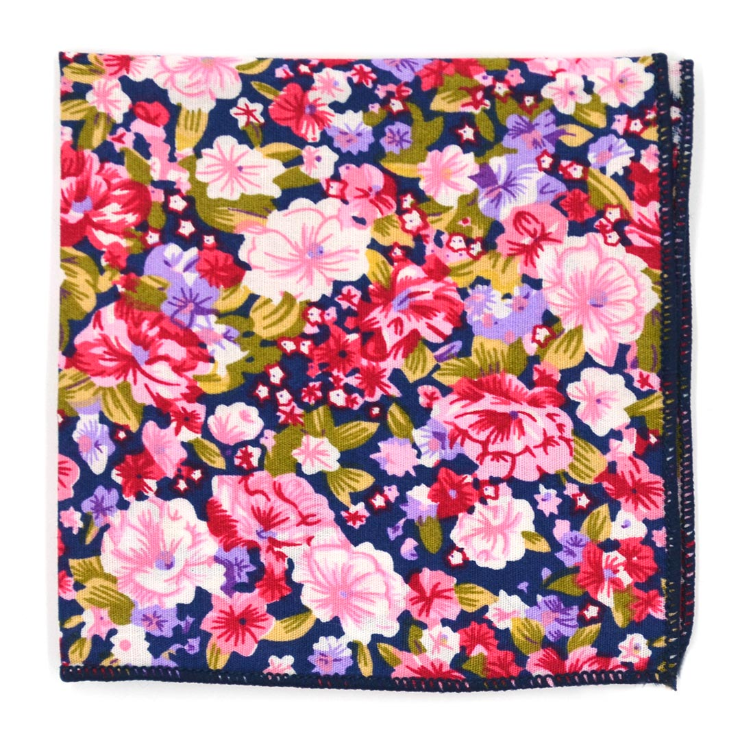 Floral Purple Pocket Square