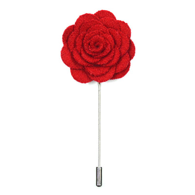 Lapel Pin - Floral Red
