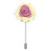 Lapel Pin - Floral Rose Cream