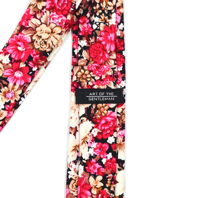 Floral Ruby Blossoms Tie