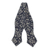Floral Steel Blue Bow Tie