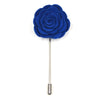 Lapel Pin - Floral Ocean Blue