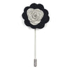 Lapel Pin - Floral Steel Coal