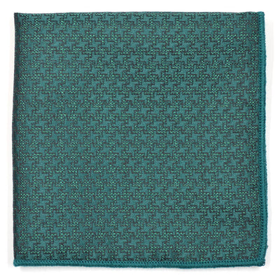 Geometric Green Pocket Square