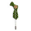 Lapel Pin - Polka Dot Green Tie