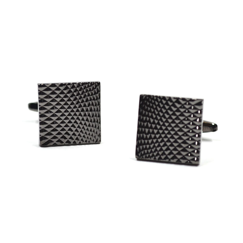 Gunmetal Block Cufflinks