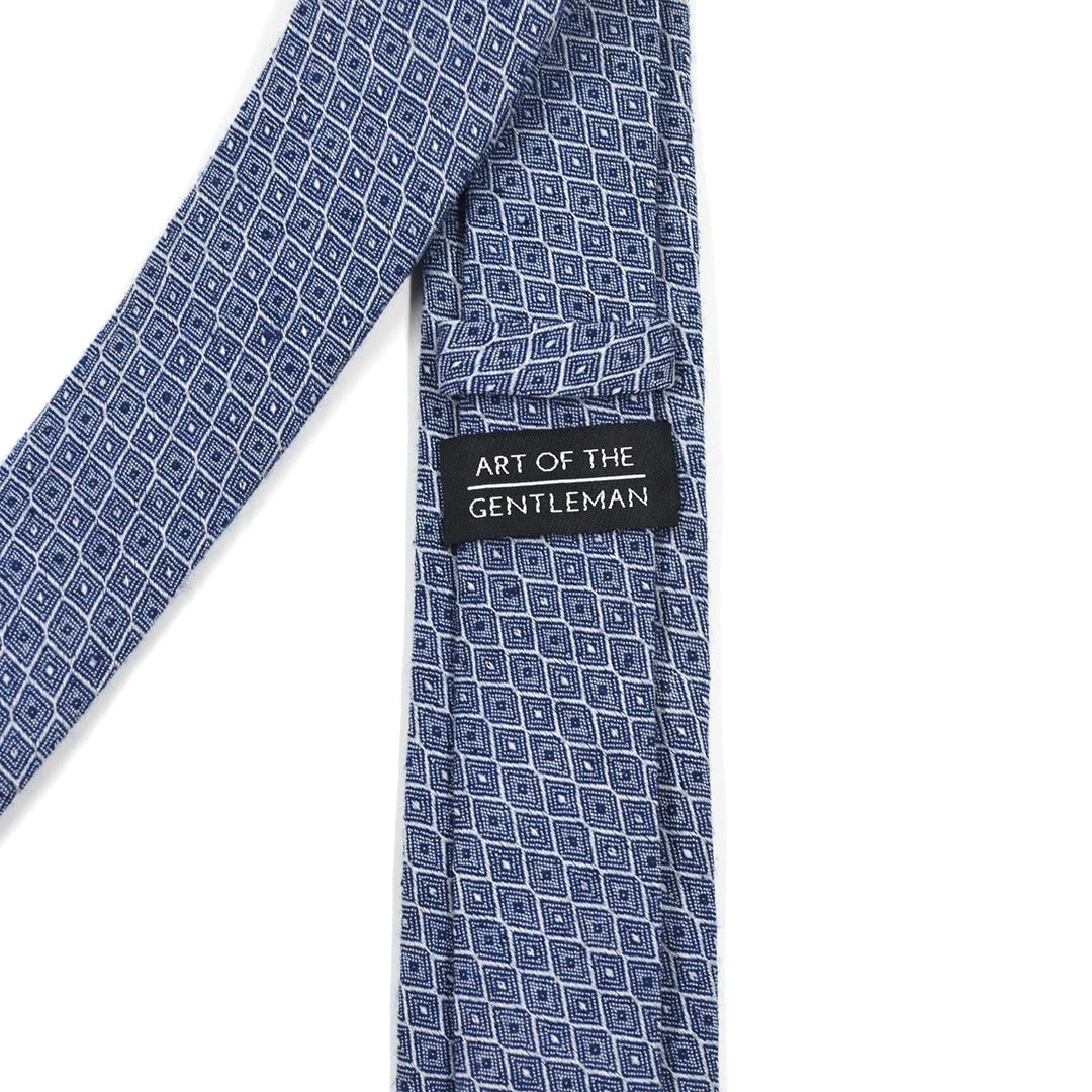 Honeycomb Royal Blue Tie