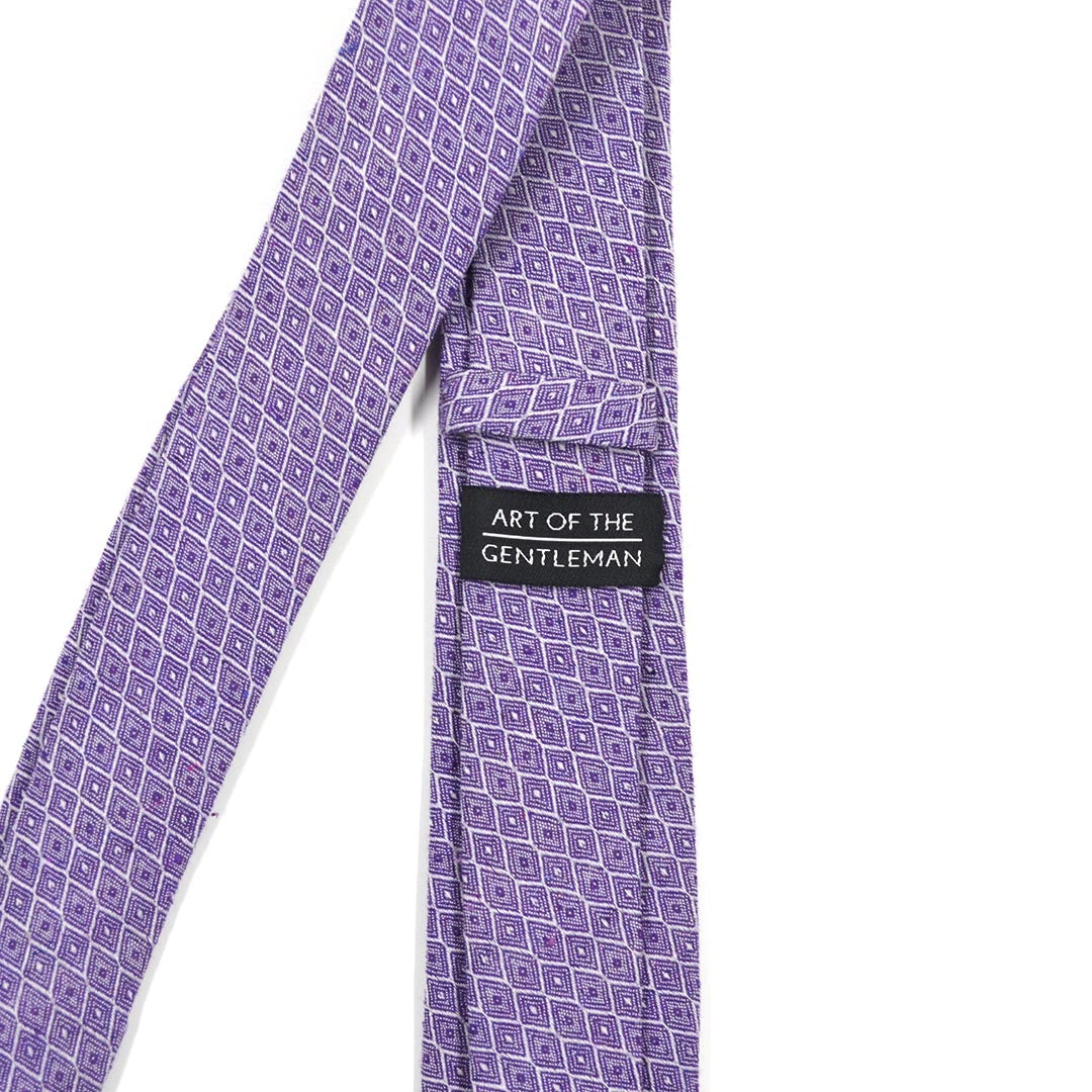 Honeycomb Royal Purple Tie