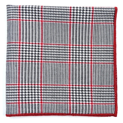 Houndstooth Black and White Pocket Square