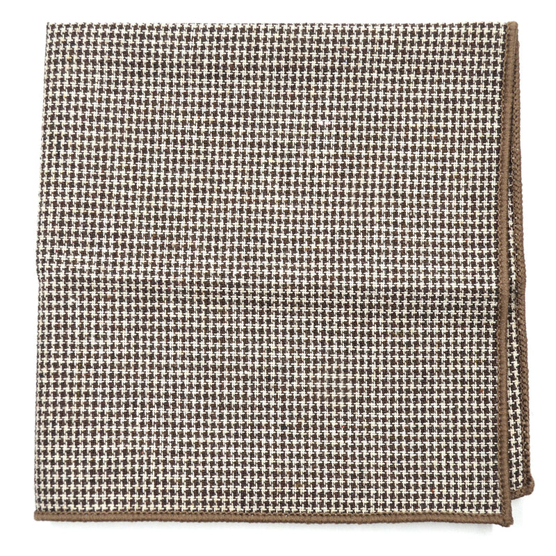 Houndstooth Brown Pocket Square